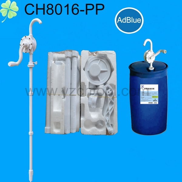 55 gallon drum Anticorrosive rotary hand pump CH8016(PP/PVC/PPS)