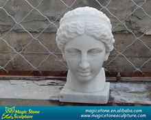 elegant marble lady bust statue