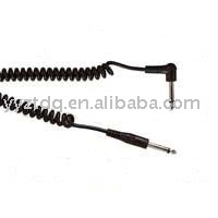 Retro coiled Guitar instrument cable lead