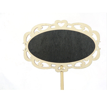 FQ brand Chalkboard wedding decoration Mini wooden blackboard with stand for table decoration wood Lace type blackboard