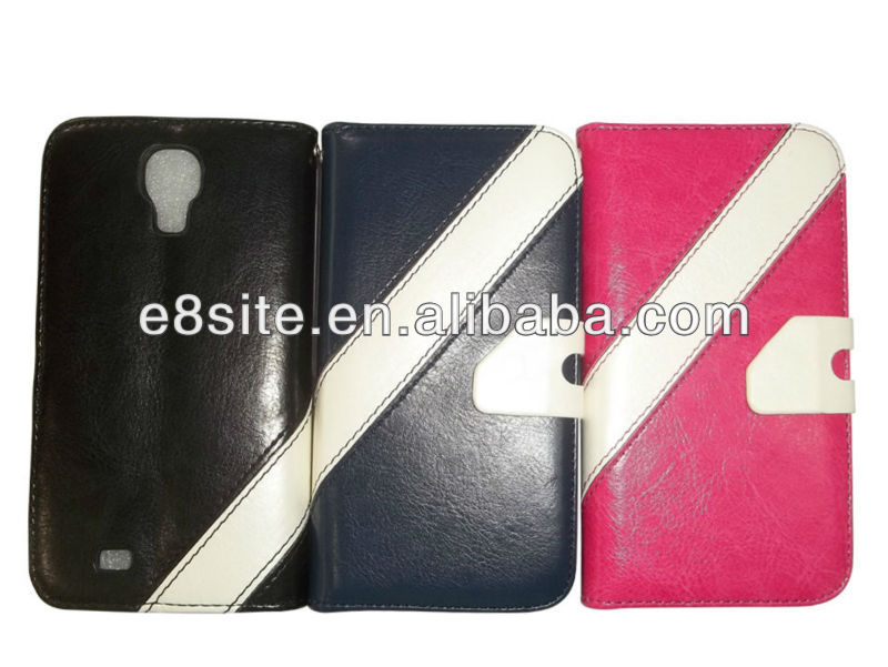Girl Wholesale Stand Leather Case For SamSung i9500 Galaxy S4