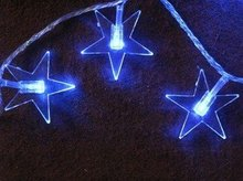 Wholesale 100 LED star Christmas light with blue and red color for christmas,festival holiday decoration