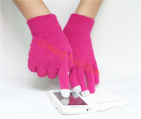 hot selling factory price solid acrylic screen touch gloves for girls women
