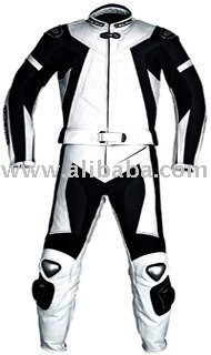 CUSTOM MADE LEATHER MOTORBIKE SUIT/JACKET WITH ARMOR