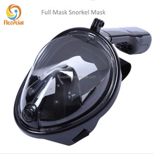 Dropship and Wholsale Safe and waterproof BLACK Anti Fog Full Face Diving Mask Snorkeling Set Respiratory masks