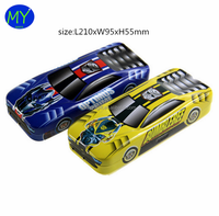 Factory hot sales car shape 3 layer tin pencil case of bottom price