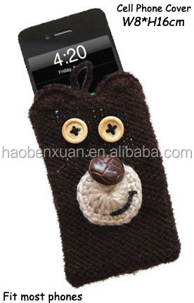 Knitted Cell Phone Case Bear