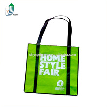 China supplier green color recycle fabric pp non woven shopping bag