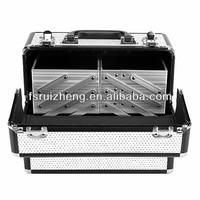 Silver china aluminum metal makeup case RZ-LCO105-4