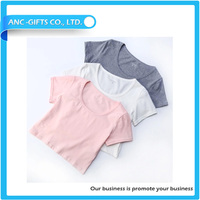 slim fit casual all over printed short style hot promotion sexy ladies lining t shirt