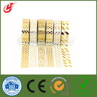 2016 quality highFoil Washy tape for gift wrapping customized and decoration