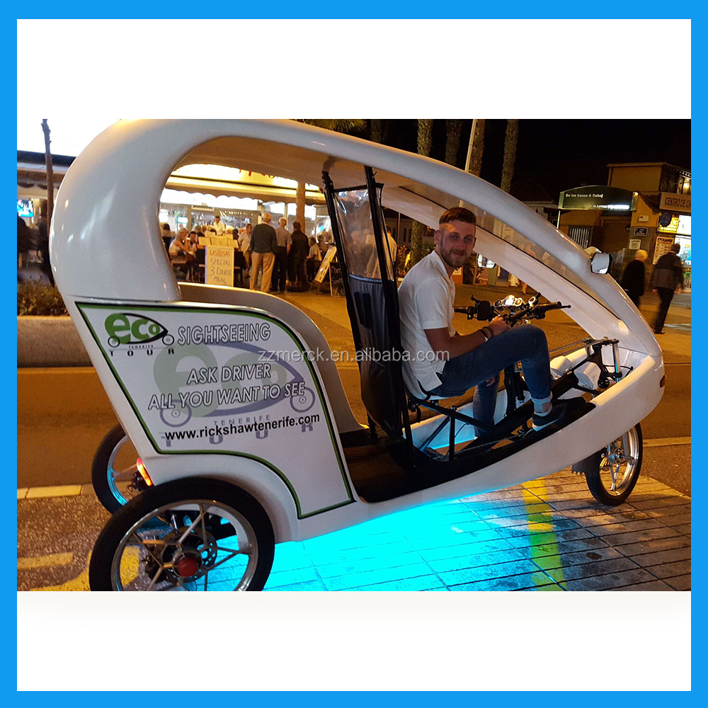 2 Passengers Electric Taxi Tricyle Cycle Rickshaw for Sale