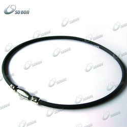 necklace magnetic clasp silicone necklace at factory price
