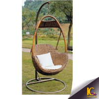 Indoor bedroom swing indian jhoola rattan wicker beach swing with aluminium