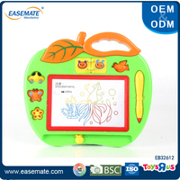 Children educational toy apple color magnetic drawing board for sale