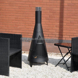 Burning fire log pit patio steel ,garden outdoor BBQ chiminea