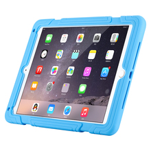 Hot sale case for iPad pro9.7,double-color tablet case with bracket,silicone case for iPad Air2