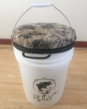Multi-function hunting and fishing plastic bucket with swivel seat lid