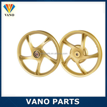 Golden color motorcycle W100 wheel rim