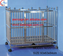 Quality assurance stainless steel cages dog kennel and runs