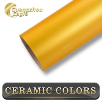 New Arrival Durable Air Free Bright-coloured Ceramic Silver Car Wrap Vinyl