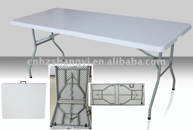 Rectangular foldable dining table and chair set