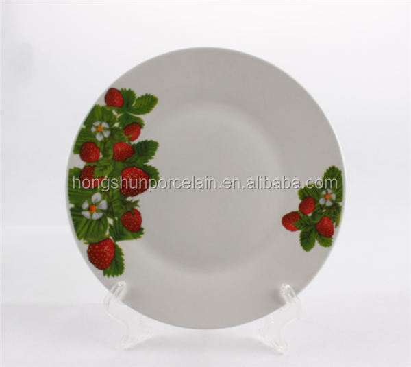 Luxury porcelain flat plate