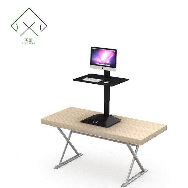 Ergonomic electric leg sit to stand table height adjustable mechanism