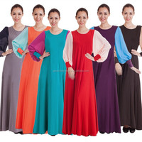 Muslim fashion spell milk silk chiffon gown fight large size clothing wholesale The Islamic G01-8