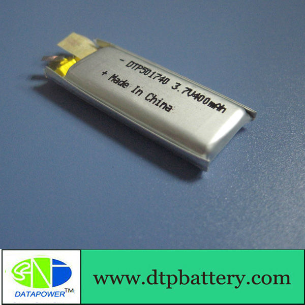 lithium polymer battery 3.7V 400mAh for bluetooth earphone