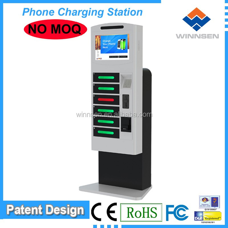 Solar Powered Mobile Charging Station/Secure Public Phone Charging Kiosks APC-06B