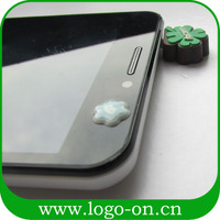 New design pvc cell phone earphone jack dust cap plug