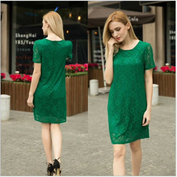 MS68468W straight design fashion short sleeve dress traditional chinese clothing