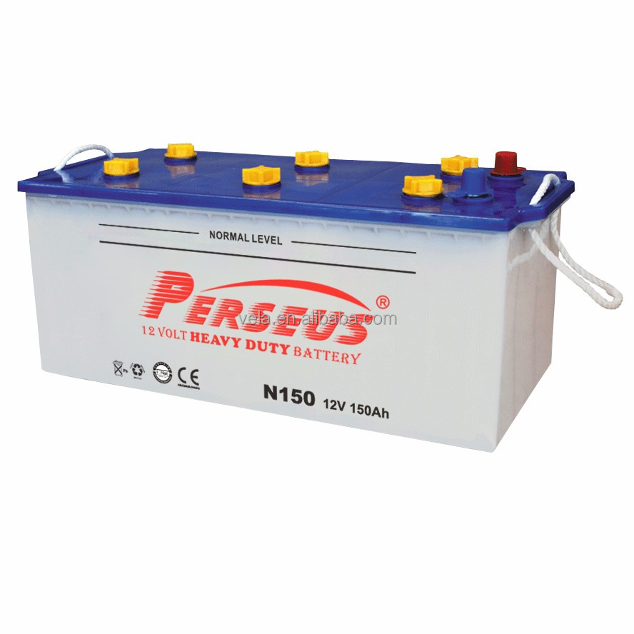 Truck battery high quality dry battery 12v 150ah with price