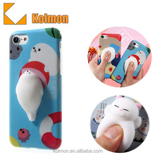 Factory Wholesale 3D Kneading Pinch Custom Design Your Own Silicone Animal Cartoon Mobile Cell Phone Case For iphone 8