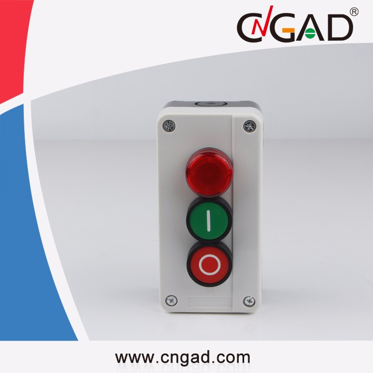 CNGAD XAL-B363 red pilot light flush Button box
