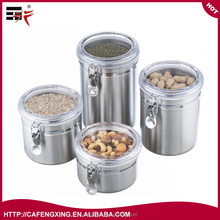 "Target Canister set 5"" 4 Piece Stainless Steel kitchen airtight food tea suger Coffee Canister set"