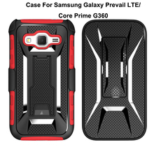 2018 Armor Impact Holster Kickstand Hybird Case For Samsung Galaxy Prevail LTE/Core Prime G360 Cover Case