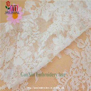 2017 nice turkish lace fabric with cordings embroidery lace fabric for wedding dress