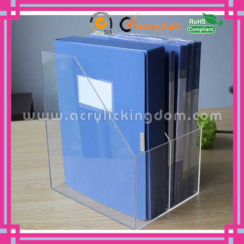 custom desktop 2 pockets clear acrylic document display stand manufacturer
