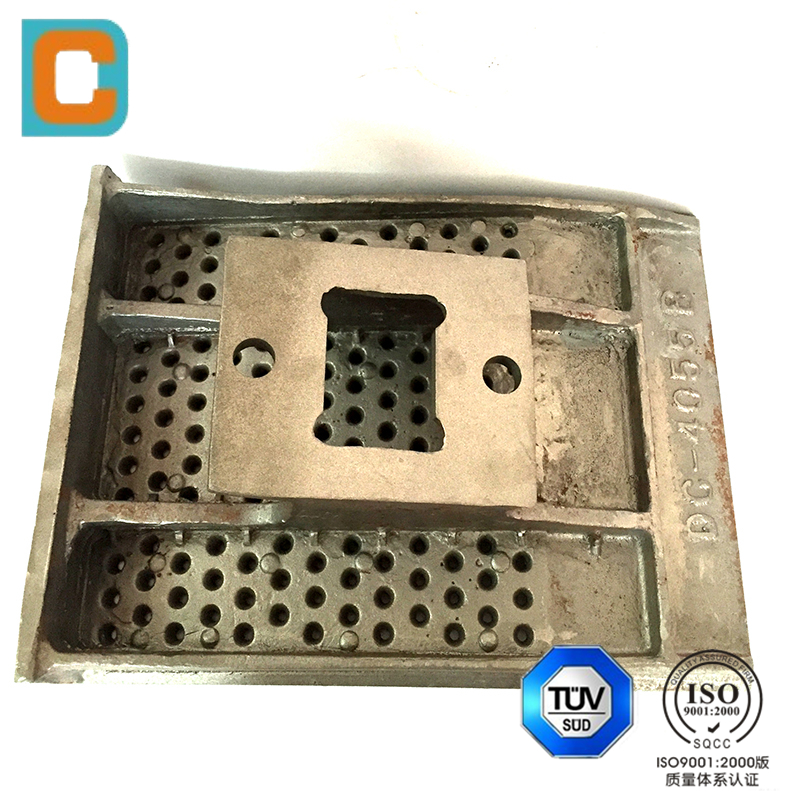Sand casting corrugated stainless steel plate parts used in construction industry