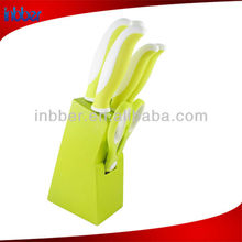 Economic green handle kitchen knife set