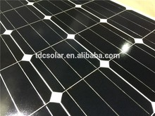 2017 Most Popular Anodized Aluminium Alloy hot sale monocrystal solar panel With Long-term Service