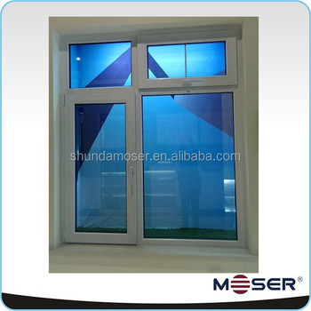 High performance heat insulation upvc vinyl glass window for High insulation windows