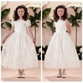 fairy designs lace ankle length baby girl party dress