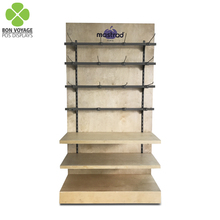 Supermarket attractive promotion food dispenser beef jerky display stand