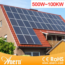 Industrial grid-tied 10KW solar panel system for 8 hours working time