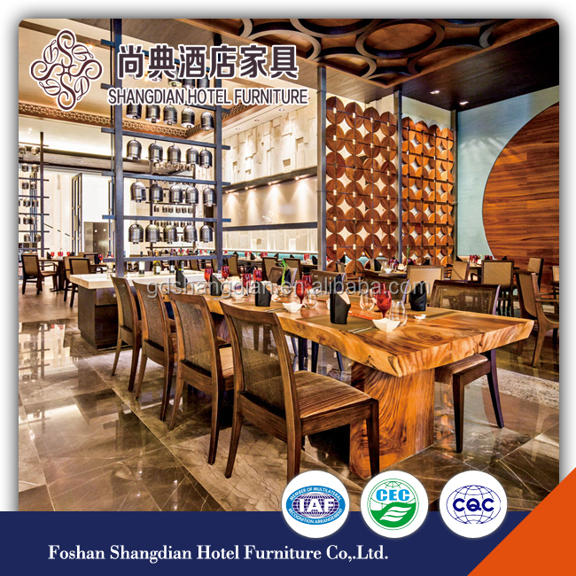 Factory chinese solid wood commercial restaurant furniture