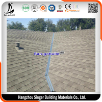 Colored Double Layer Roofing Shingles Laminated Asphalt Shingles Price