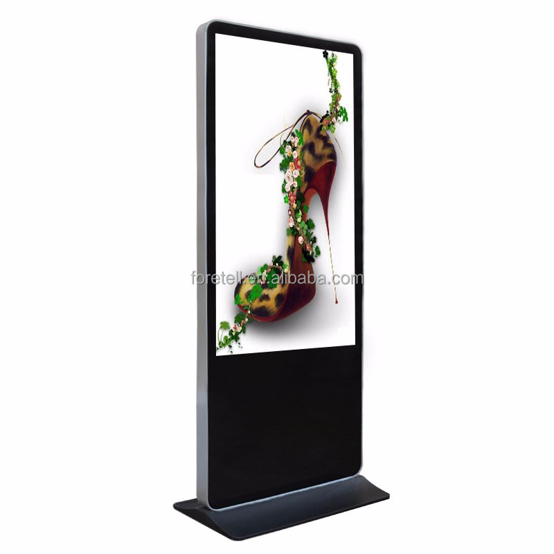 Foretell 49 Inch Indoor Application and TFT Type Free Standing Advertising Touch Screen Kiosk for Shopping Mall